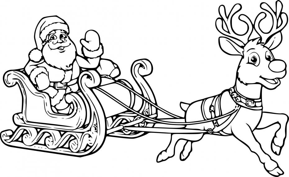 Père Noel avec ses rennes