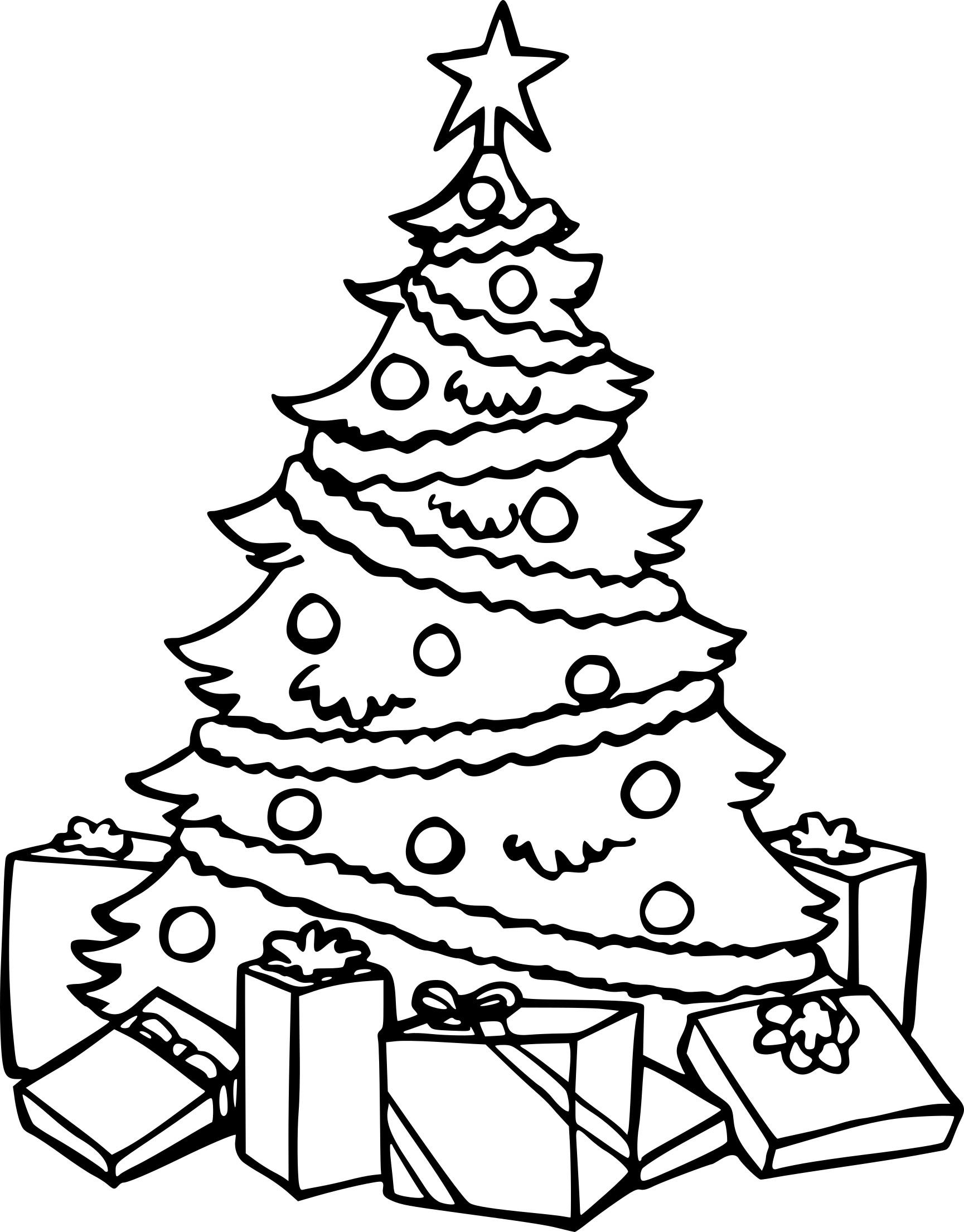 Coloriage Sapin De Noel à Imprimer.Coloriage Sapin De Noel Avec Des Cadeaux à Imprimer Gratuit