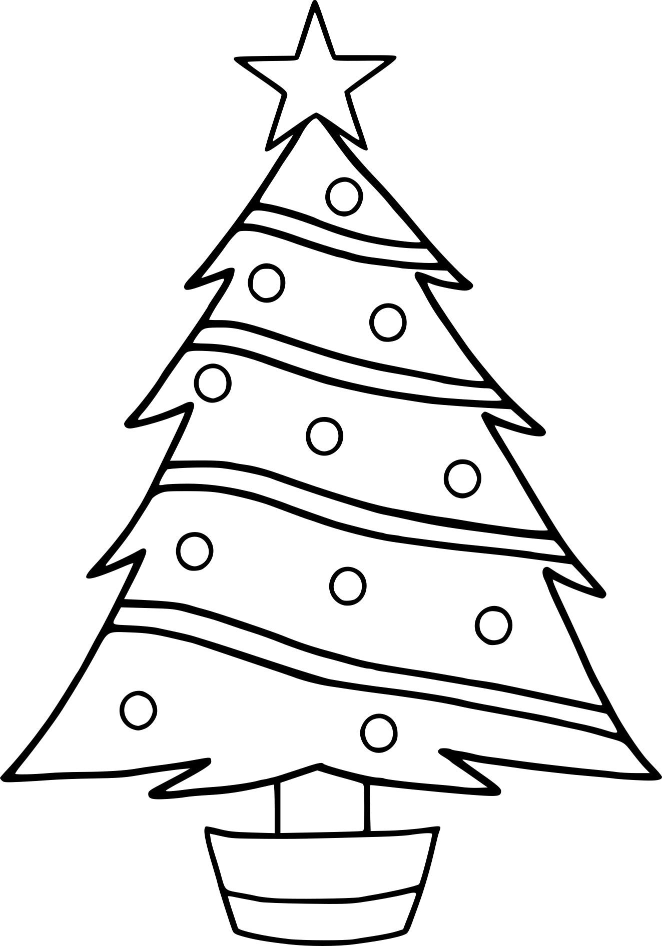 Coloriage Sapin De Noël Facile à Imprimer Gratuit