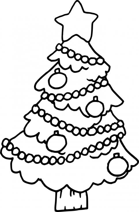 Sapin avec des boules de Noël