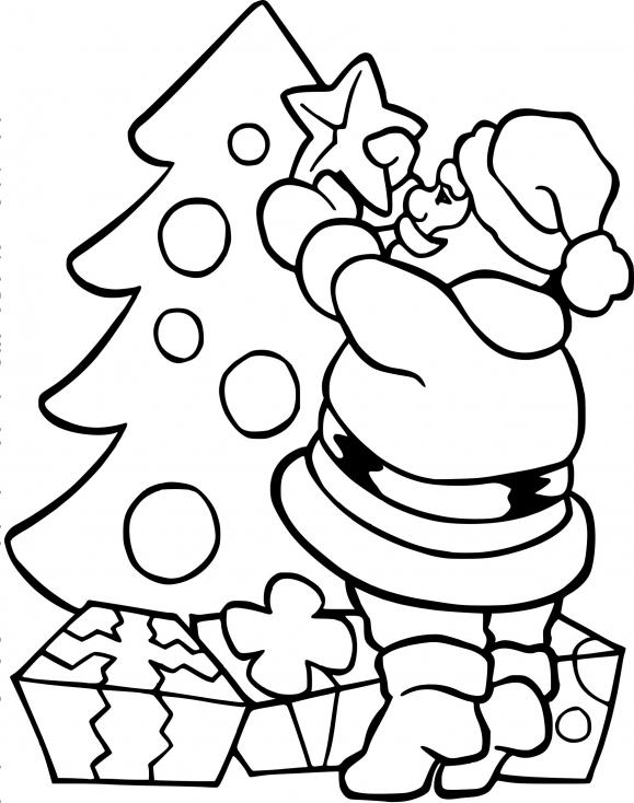 Père Noël avec un sapin