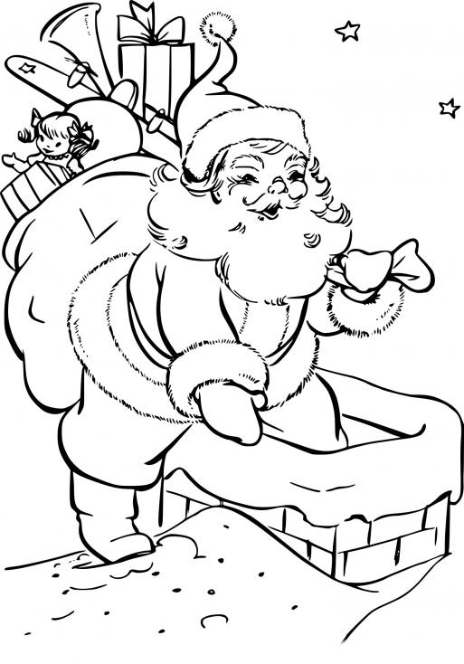 Père Noël dans la cheminée